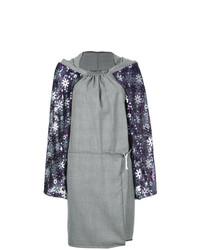 Robe droite écossaise grise Comme Des Garçons Vintage
