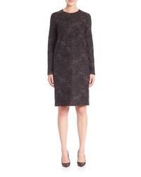Robe droite en laine gris foncé