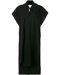 Robe droite en soie noire Jil Sander