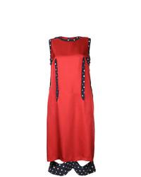 Robe droite en soie rouge Maison Margiela