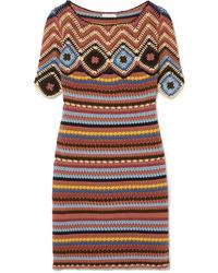Robe droite en tricot multicolore See by Chloe
