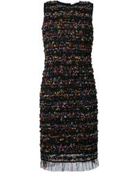 Robe droite en tulle noire Givenchy