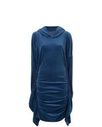 Robe droite en velours bleu marine Paula Knorr