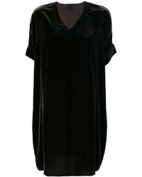 Robe droite en velours noire Aspesi