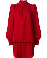 Robe droite en velours rouge Marc Jacobs