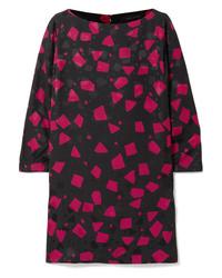 Robe droite géométrique noire Marc Jacobs