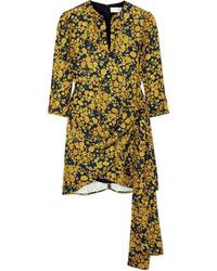 Robe droite imprimée jaune Victoria Victoria Beckham