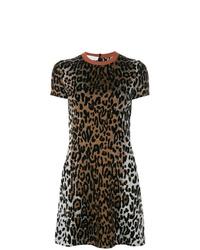 Robe droite imprimée léopard marron Stella McCartney