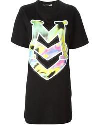 Robe droite imprimée noire Love Moschino