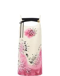 Robe droite imprimée tie-dye rose Prada