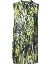 Robe droite imprimée verte Kenzo