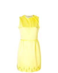 Robe droite ornée jaune MSGM