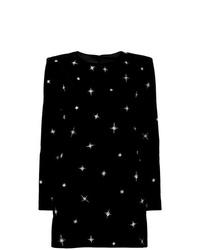 Robe droite ornée noire Saint Laurent