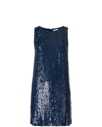 Robe droite pailletée bleu marine