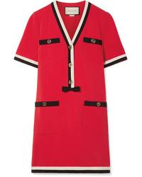 Robe droite rouge Gucci