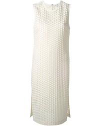 Robe droite texturée blanche Elizabeth and James
