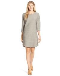 Robe droite texturée grise