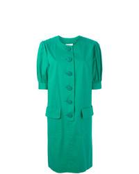 Robe droite verte Yves Saint Laurent Vintage