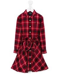 Robe écossaise rouge Ralph Lauren
