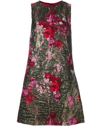 Robe en brocart à fleurs dorée Dolce & Gabbana
