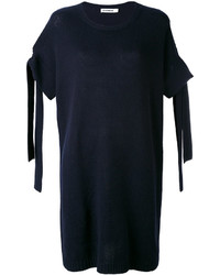 Robe en cachemire bleu marine Jil Sander