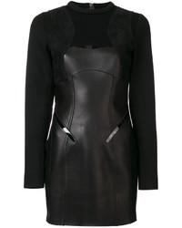 Robe en cuir noire Dsquared2