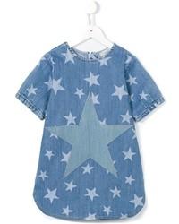 Robe en denim à étoiles bleue Stella McCartney
