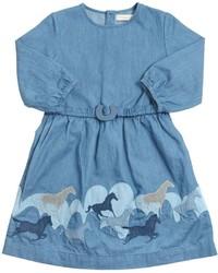 Robe en denim bleu clair