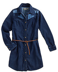Robe en denim bleu marine