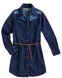 Robe en denim bleue marine