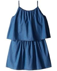 Robe en denim bleue