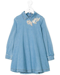 Robe en denim bleue Ermanno Scervino