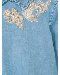 Robe en denim bleue Ermanno Scervino