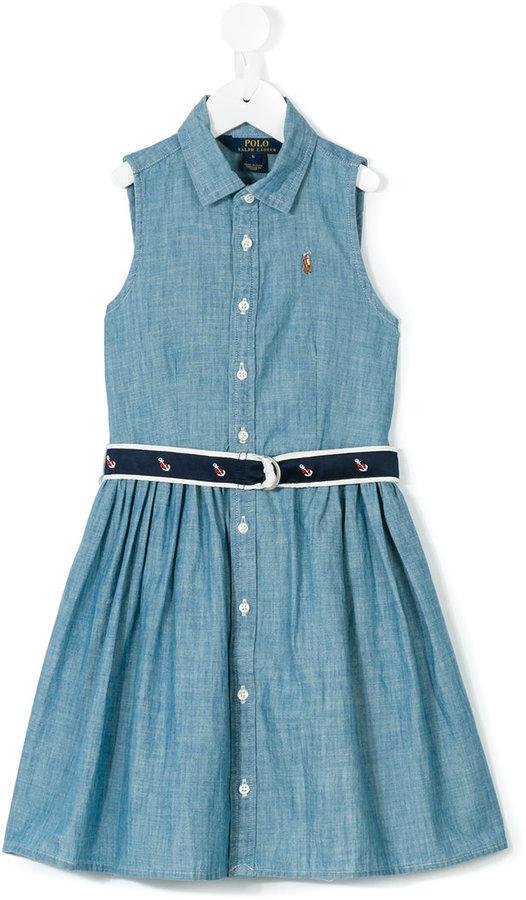 Robe en denim bleue Ralph Lauren