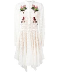 Robe en dentelle brodée blanche Stella McCartney
