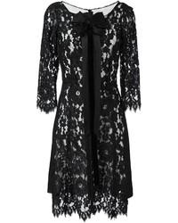 Robe en dentelle noire Marc Jacobs