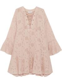 Robe en dentelle rose IRO