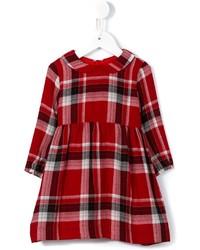 Robe en laine écossaise rouge Il Gufo