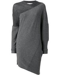 Robe en laine en tricot grise foncée Stella McCartney