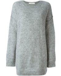Robe en laine en tricot grise Golden Goose Deluxe Brand