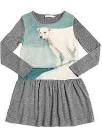 Robe en laine grise