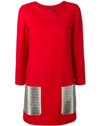 Robe en laine rouge Salvatore Ferragamo