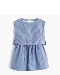 Robe en lin bleu clair