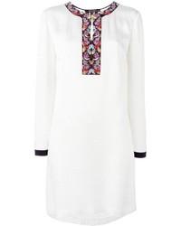 Robe en soie brodée blanche Etro