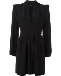 Robe en soie noire Isabel Marant