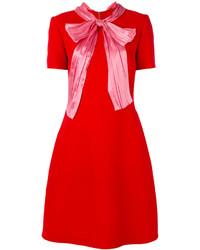 Robe en soie rouge Gucci