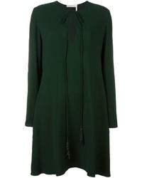 Robe en soie vert foncé Chloé