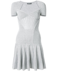 Robe en tricot argentée Alexander McQueen