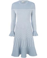 Robe en tulle bleu clair Fendi