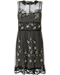 Robe en tulle brodée noire RED Valentino